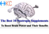 The Best 10 Nootropic Supplements